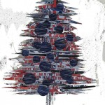 xmas tree made from alignments of bacterial genomes